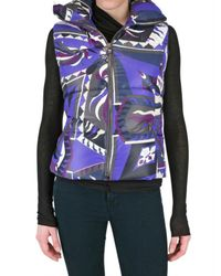 Emilio Pucci | Purple Printed Nylon Vest Down Jacket | Lyst