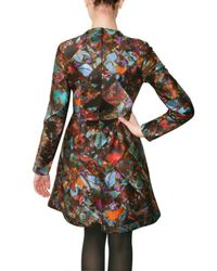 Erdem | Red Vittoria Patchwork Printed Silk Dress | Lyst