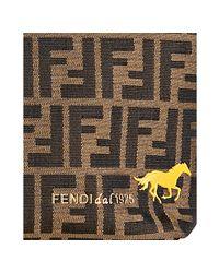 Fendi - Brown Tobacco Zucca Canvas Roll Horse Detail Tote Bag - Lyst