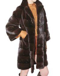 Ferragamo - Brown Mink Fur Coat - Lyst