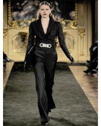 Francesco Scognamiglio | Black Stretch Wool Gabardine Trousers | Lyst