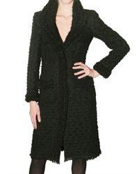 Giambattista Valli | Black Bouclé Coat | Lyst