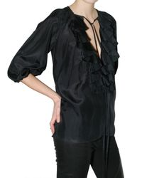 Givenchy - Black Cotton Voile Shirt - Lyst