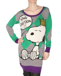 JC de Castelbajac | Green Snoopy Knit Sweater | Lyst