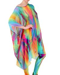Jean-Pierre Braganza - Multicolor Rainbow Explosion Georgette Dres - Lyst
