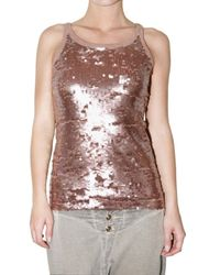 Jo No Fui | Metallic Sequin Tank Top | Lyst