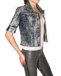 Kova & T | Gray Acid Wash Denim Jacket | Lyst