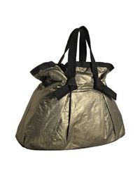 Lanvin | Metallic Gold Pleated Gathered Shopper Tote | Lyst
