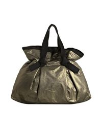 Lanvin - Metallic Gold Pleated Gathered Shopper Tote - Lyst