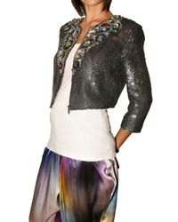 Matthew Williamson | Metallic Liquid Sequin Embroidered Jacket | Lyst