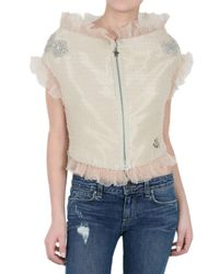 Moncler Gamme Rouge | Natural Ruffled Crystal Jacket | Lyst