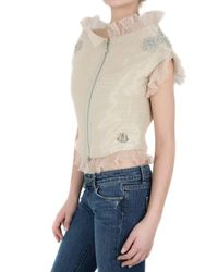 Moncler Gamme Rouge - Natural Ruffled Crystal Jacket - Lyst