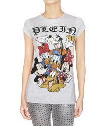 Philipp Plein | Gray Crystal Disney Family Jersey T-shirt | Lyst