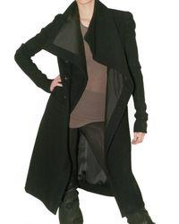 Rick Owens   Black Long Pipe Sleeve Coat   Lyst
