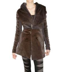 Rick Owens | Brown Kangaroo Fur Coat | Lyst