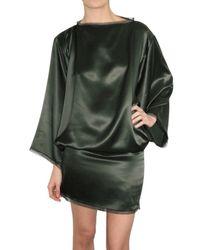 ROKSANDA | Green Silk Satin Dress | Lyst