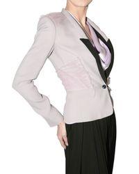 Viktor & Rolf - Purple Tulle Detail Suiting Jacket - Lyst