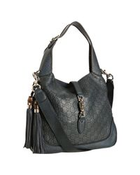 Gucci | Blue Ssima Leather New Jackie Hobo | Lyst