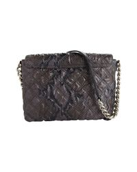 Marc Jacobs Black The Single Quilted Python Bag