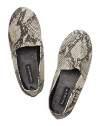Newbark Natural Sid Faux-python Leather Shoes
