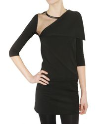Givenchy | Black Milano Stitch and Tulle Dress | Lyst
