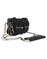 Alexander Wang Black Brenda Zip Chain Leather Bag