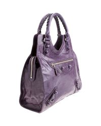 Balenciaga | Purple Arena Giant Covered Folder | Lyst