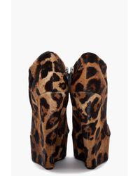Giuseppe Zanotti Multicolor Savana Leopard Wedge Booties