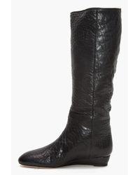 Loeffler Randall - Matilde Flat Boots in Black - Lyst