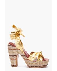 Marc By Marc Jacobs | Metallic Gommone Heels | Lyst