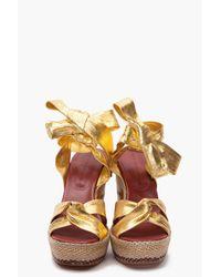 Marc By Marc Jacobs | Metallic Gommone Heels | Lyst