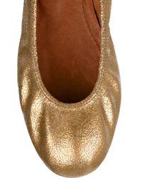 Lanvin Metallic Ballet Flat