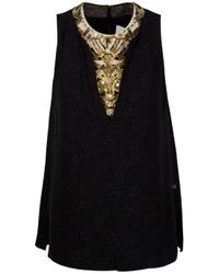3.1 Phillip Lim | Black Baroque Beaded Sleeveless Top | Lyst
