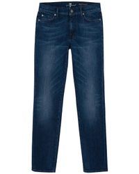 7 For All Mankind | Blue High Waisted Roxanne Jeans | Lyst