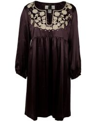 Collette Dinnigan - Purple Embroidered Tunic Dress - Lyst