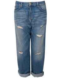 Current/Elliott - Blue The Selvedge Boyfriend - Lyst