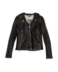 Doma Leather | Black Leather Moto Jacket | Lyst