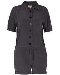 Elizabeth and James - Brown Factory Playsuit - Lyst