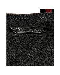 Gucci | Black Gg Canvas Web Stripe Travel Tote | Lyst
