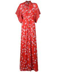 Issa | Red Star Print Kimono Dress | Lyst