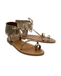 K. Jacques - Metallic Cabestan Sandals - Lyst