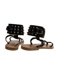 K. Jacques - Black Forban 2 Rangs Sandals - Lyst