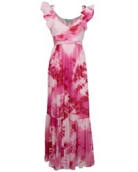 Leaves Of Grass | Pink Mosaic Sleeveless Tie-dye Maxi Dress | Lyst