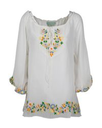 Leaves Of Grass | Multicolor Chelsea Draw String Embroidered Top | Lyst