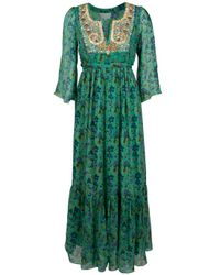 Leaves Of Grass | Multicolor Floral Printed Maxi Dress | Lyst