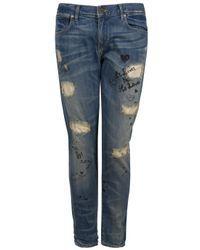 PRPS | Blue Slim Straight Leg Jean | Lyst