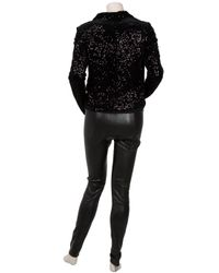 Snow From St Barth - Black Leather Leggings - Lyst