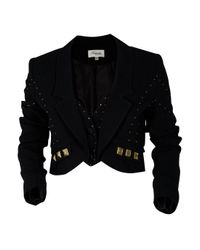 Temperley London | Black Avery Cropped Crepe Jacket | Lyst
