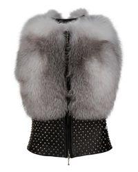 Thomas Wylde | Gray Bullet Proof Fur Gilet | Lyst
