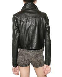American Retro - Black Blazer Leather Jacket - Lyst